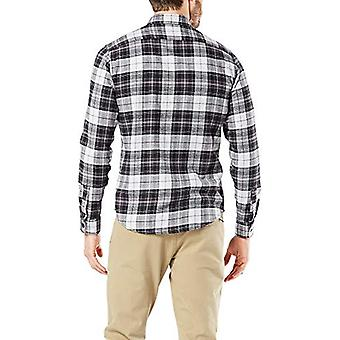 Dockers Men's Long Sleeve Smart Temp Flannel Shirt,, Gray Cloud, Size Medium