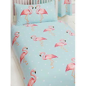 Fifi Flamingo Duvet Cover and Pillowcase Set