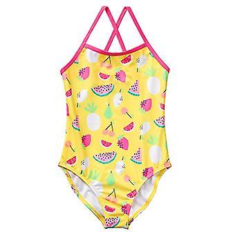 Gymboree Little Girls' 1-Piece Fruit Print Swim, Gul, S
