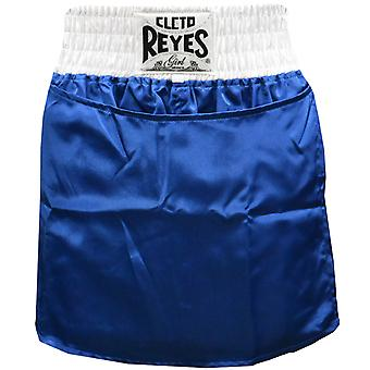 Cleto Reyes Women's Satin Boxing Skirt Trunks - Blue/White