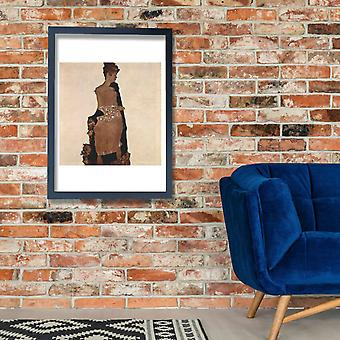Egon Schiele - Woman looking over shoulder Poster Print Giclee