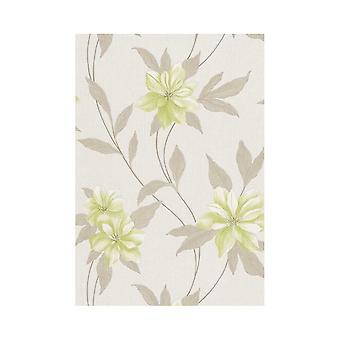 Erismann Spring Floral Metallic Textured Blown Vinyl Embossed Pastel Wallpaper 9500-02