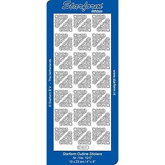 Starform Stickers Corners 5 (10 Sheets) - Gold - 1017.001 - 10X23CM