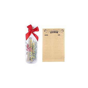 CGB Giftware Joy To The World Christmas Wish List In A Bottle