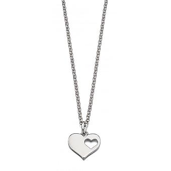 Little Star Hanneli Silver Cut Out Heart Dames Ketting