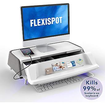 FLEXISPOT Monitor Stand Workstation Laptop Riser met opslaglade USB-oplaadpoort S6G