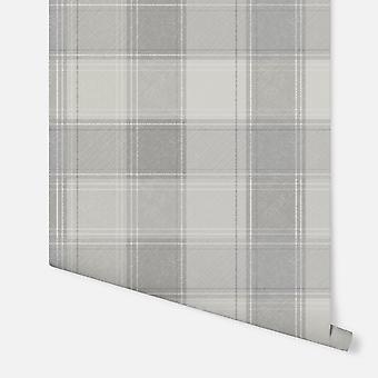 904101 - Urban Check Grey  - Arthouse Wallpaper