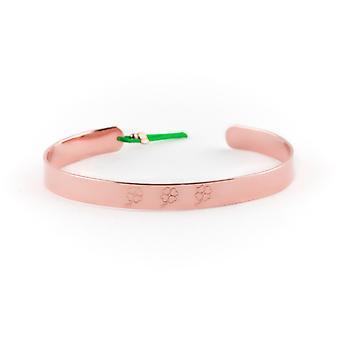 Jonc 7 mm Ley Nat grav 3 trefles dor pink