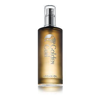 Huile marocaine de cheveux d'argan De Curl Premium d'or