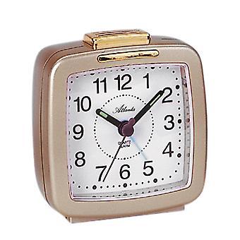 Atlanta 1380/9 Alarm clock quartz analog golden with light snooze