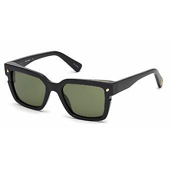 DSquared2 Indy DQ0269 01N Shiny Black/Green Sunglasses