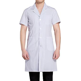 Allthemen Men & apos medical rochiile antibacteriene cu mânecă scurtă lung medical alb coat