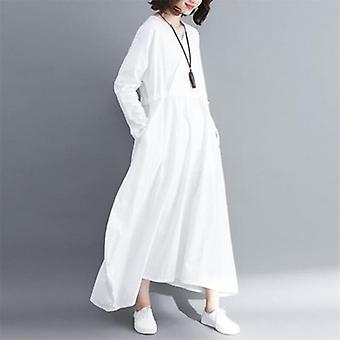 Drawstring Plus Size Long Dress