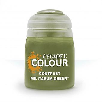 Contrast: Militarum Green (18ml) ,Citadel Paint Contrast, Warhammer 40,000