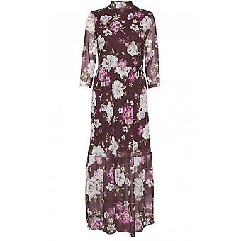 b.young Purple Floral Maxi Dress