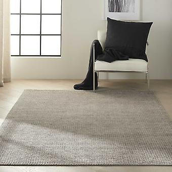 Calvin Klein Pretoria Quilted Designer Wool Rugs Ck890 In Stone