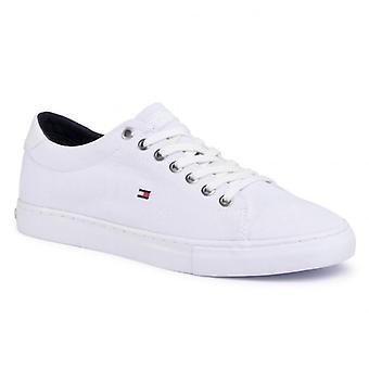 Tommy hilfiger säsongsbetonad textil vulkaniserade sneakers mens vit