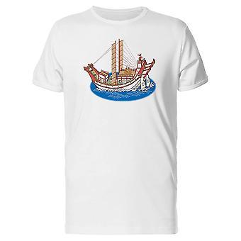 تانغ سلالة القوارب المحملة الرجال-الصورة عن طريق Shutterstock