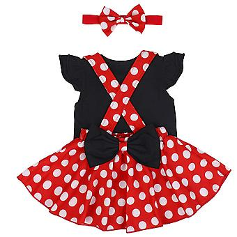 Minnie Costume Infant Toddler Girl Tutu Dress Outfit Polka Dot 1st Birthday C...