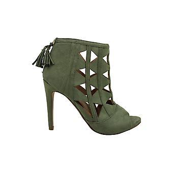 XOXO Women's Charisma Dress Sandals Olive 9.5M