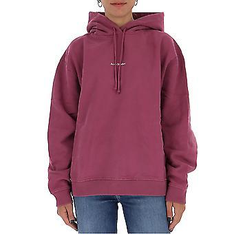 Acne Studios Ai0070violetpink Kvinnor's Purple Cotton Sweatshirt