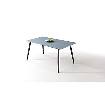 Table alu verre dépoli 160 cm, conique - anthracite