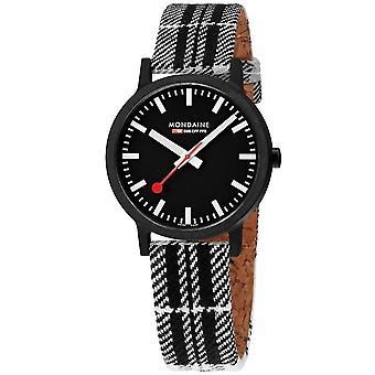 Mondaine Essence Quartz White Dial Black Strap Watch MS1.41120.LB