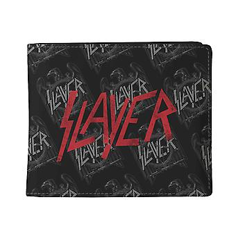 Slayer Wallet Pattern Band logo All over print new Official Black Bifold