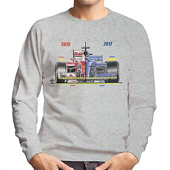 モータースポーツ イメージ フェラーリ SF16 H レギュレーション 比較 メン&アポ;s スウェットシャツ