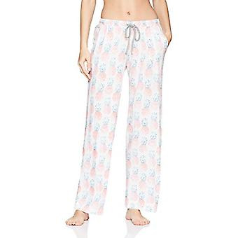 Brand - Mae Women's Sleepwear Racer Back Pajama Set,Happy Pineapple,X-...