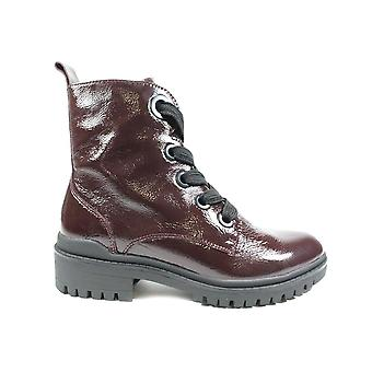 Caprice 25204 Bordeaux Patent Leather Womens Ankle Boots