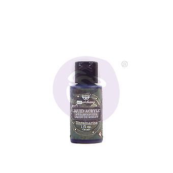 Finnabair Art Alchemy Liquid Acrylic Paint Ultramarine