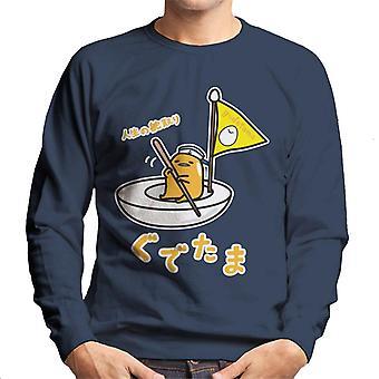 Gudetama Egg Båt Menn's Sweatshirt