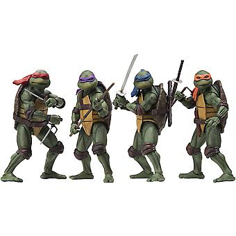 "NECA Teenage Mutant Ninja Turtles Full Set 1990 Movie 7"" Action Figure"