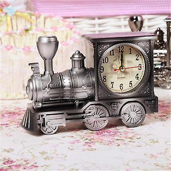 Retro trem jogo criativo desperta-relógio vintage simulação vapor trem quartzo alarme decoração presente