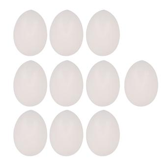 10pcsPlastic Blanc Solide Faux Pigeon Perroquets Oeuf
