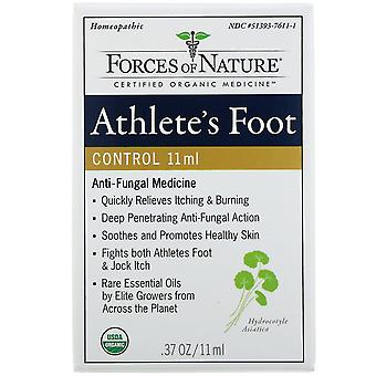 Forces of Nature, Athlete's Foot Control, 0.37 oz (11 ml)