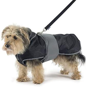 Ancol 2-in-1 Harness Dog Coat - Black - Large (18-22 inch)