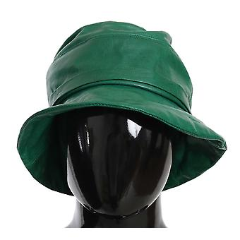 Dolce & Gabbana Green Goat Leather Bucket Cap Hat -- HAT7243504