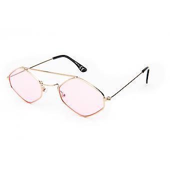 نظارات شمسية Unisex Cat.3 الذهب / الوردي (19-096)