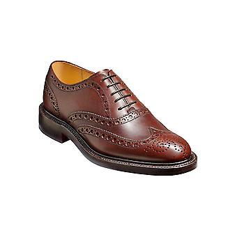 Barker Charles - Brun Finkorn | Mens Handgjorda läder Brogue | Barker Skor