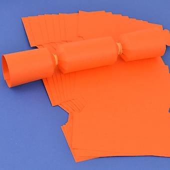 12 Orange Make & Fill Your Own DIY Recyclable Christmas Cracker Boards