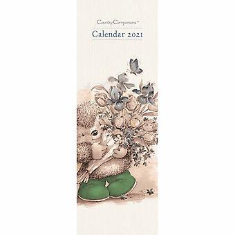 Otter House 2021 Slim Calendar-country Companions