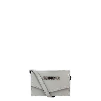 Jacquemus 206sl05206300940 Dames's Grey Leather Clutch