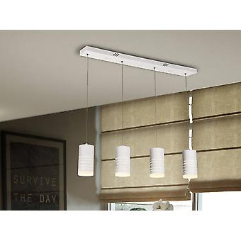 Integrated LED Drop Bar Ceiling Pendant White