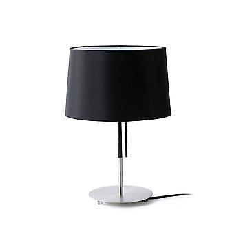 Faro Volta - 1 Leichte Tischleuchte Schwarz, Nickel, E27