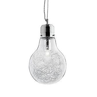 Ideal Lux Luce Max - luz bulbo forma pequeño techo colgante 1 cromo ligero, E27