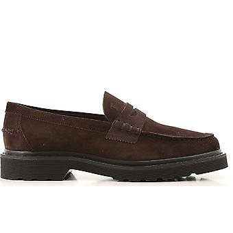 Tod's Ezcr072001 Men's Brown Suede Loafers