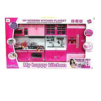 Happy Kitchen Moderní kuchyňská sada 4 Oprava část-Toy Děti