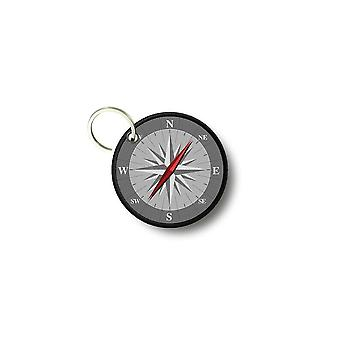 Key key door keys round prints double pink-sided compass winds